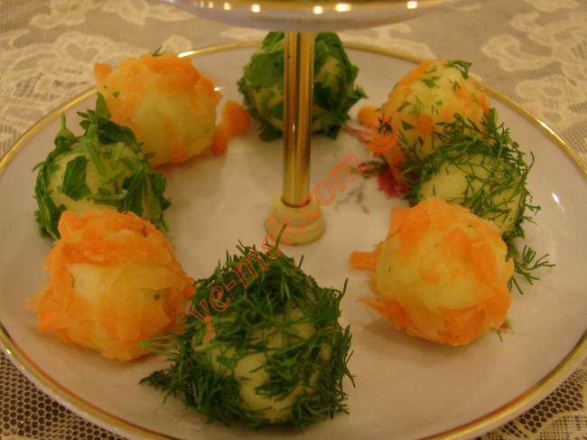Colorful Potato Balls Recipe