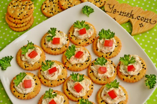 Spicy Cheese Canapes Recipe