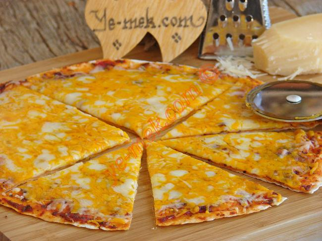 Tortilla Pizza With 4 Cheese Recipe