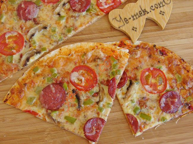 Mixed Tortilla Pizza Recipe | Recipes (From Turkish Cuisine) In ...