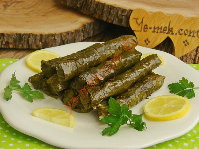 Rice Wrapped With Olive Oil Grape Leaf Recipe
